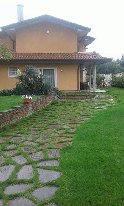 Giardino all'interno di una abitazione a Ponte San Nicolò