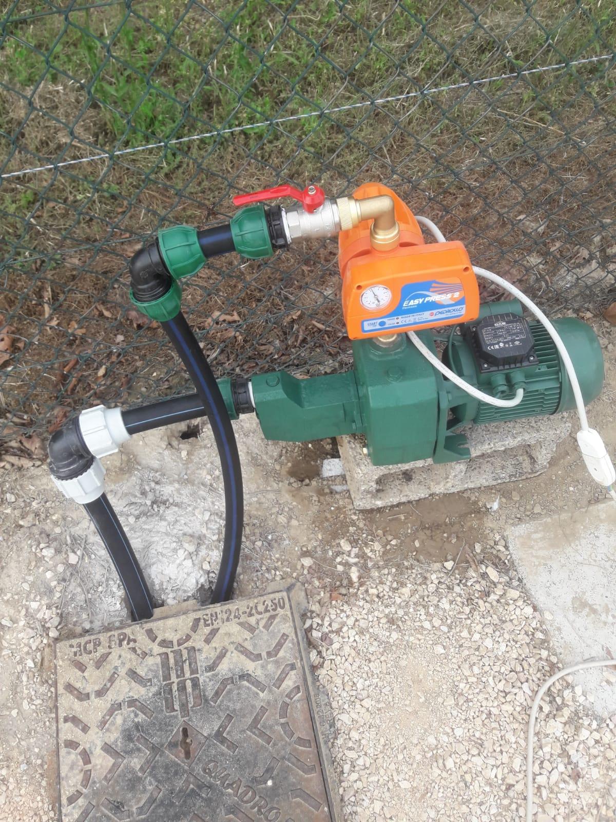 pompa irrigazione villetta Vivai Pistore