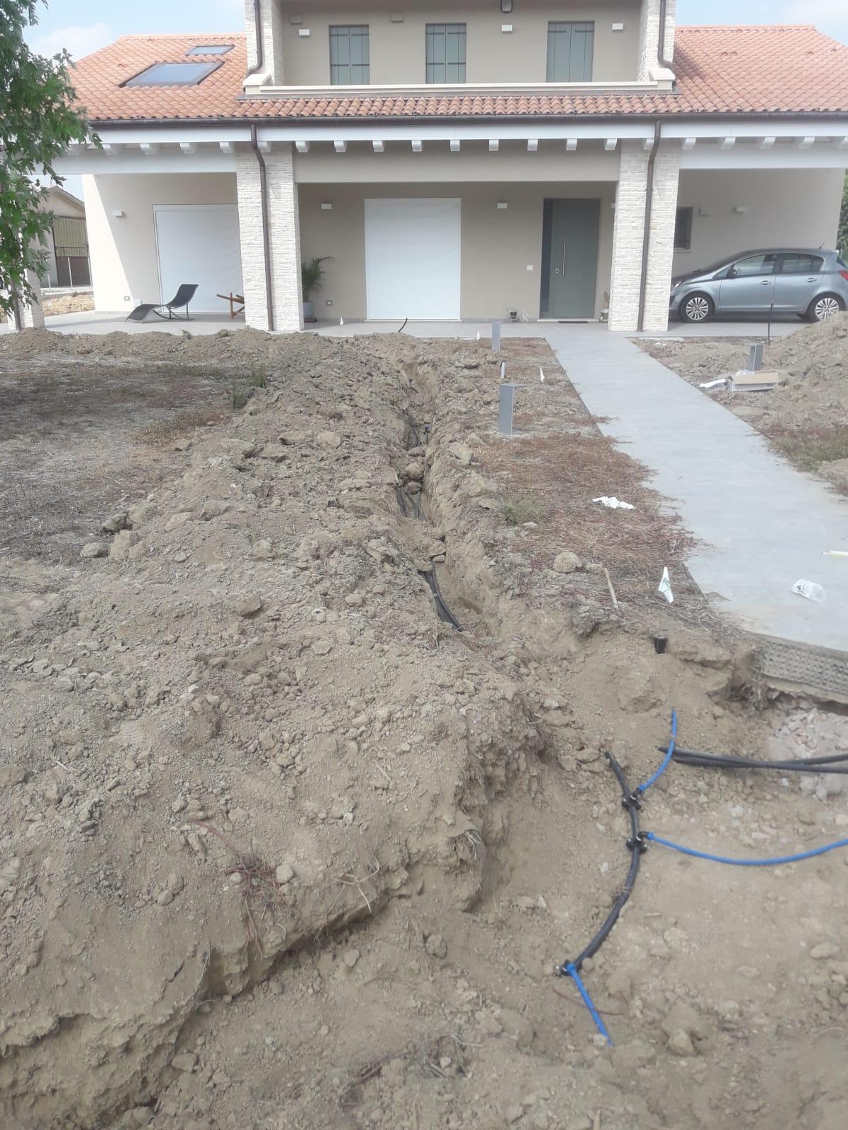 inizio realizzazione giardino Vivai Pistore